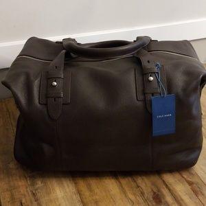 Cole Haan Leather Duffle Weekender Bag